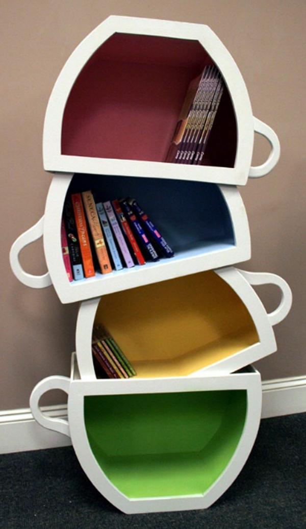librero de tazas