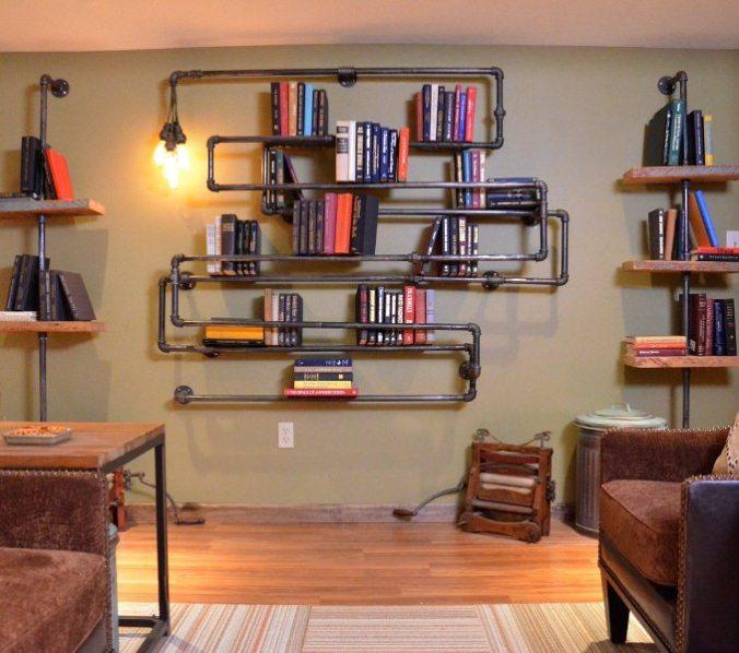 Más libreros de tubos